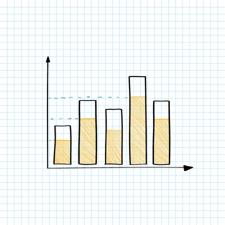 Stock market bar graph vector Stock fotó - 124774230