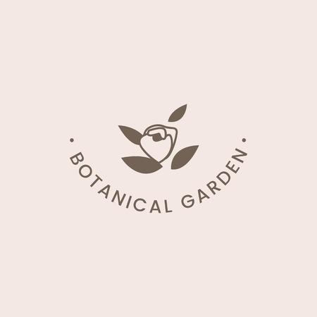 Botanical garden rose badge vector Archivio Fotografico - 118068829