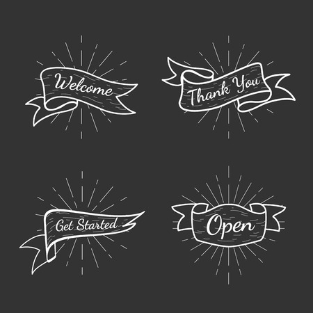 Banners con textos vector set Ilustración de vector