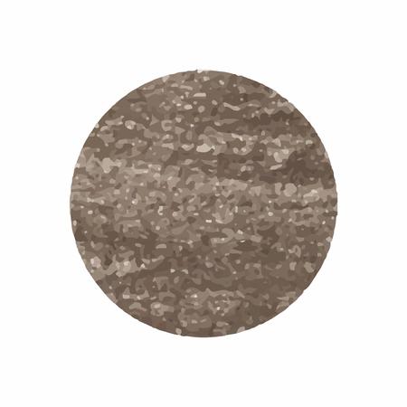 Runder, schimmernder Kupferabzeichenvektor Vektorgrafik