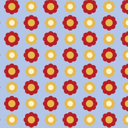 Floral pattern for background vector  イラスト・ベクター素材