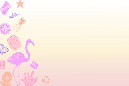 Summer themed border background vector