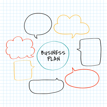 Doodle creative business plan chart illustration