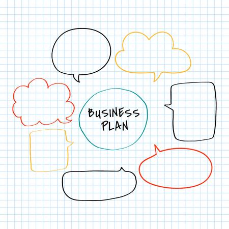 Ilustración de gráfico de plan de negocios creativo Doodle Ilustración de vector