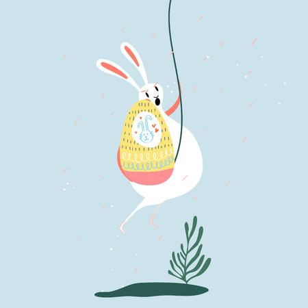 Easter celebration card vector