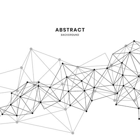 Vecteur abstrait de texture neurale blanche