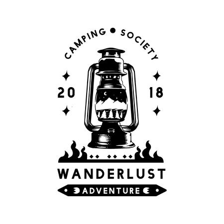 Camping society wanderlust adventure vector Illustration