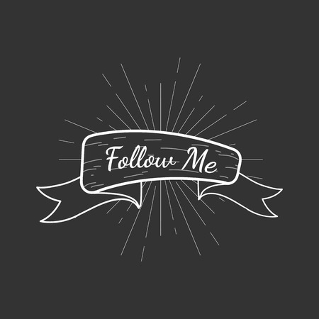 Banner with a text follow me vector