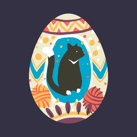 Easter festival painted egg vector Stockfoto - 118446934