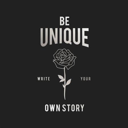 Be unique vintage logo vector