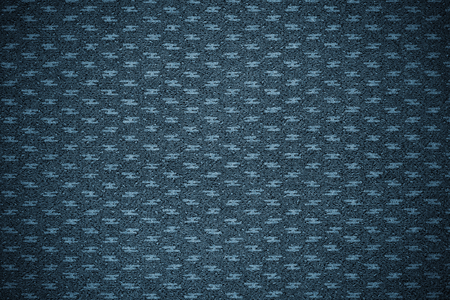 Blue patterned fabric textured background Stock Photo