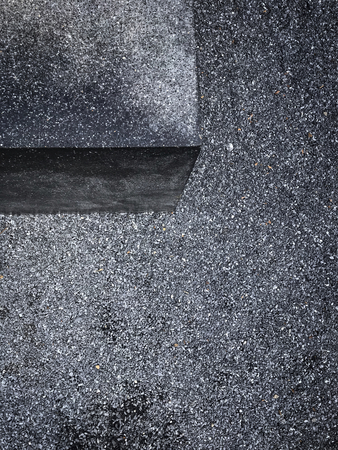 Street with tiny stones aerial view Stock fotó