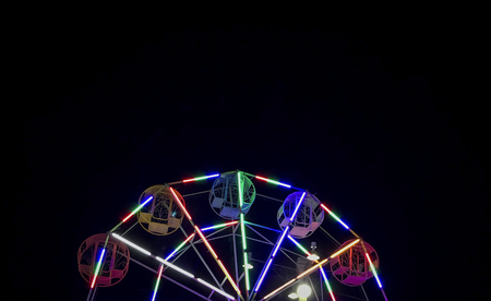 Colorful ferris wheel at a carnival