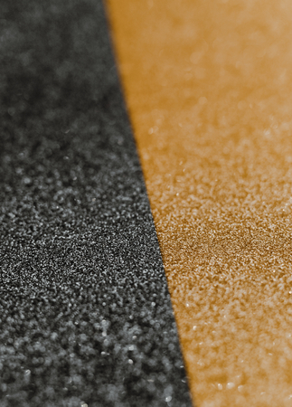 Glittery golden and black wrapping paper