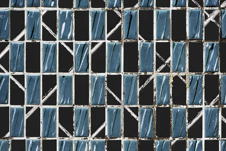 Blue and black textured tile background 版權商用圖片 - 118567848