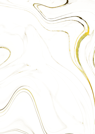 White marble with liquid golden texture Stock Photo