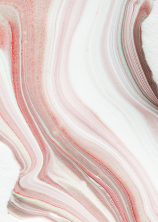 Pink fluid art marbling paint textured background