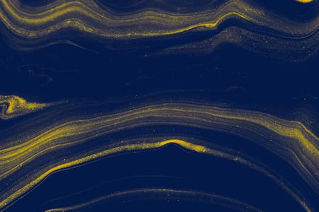 Strukturierter Hintergrund mit blauer flüssiger Kunstmarmorfarbe