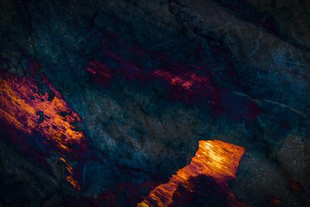 Orange and dark blue marble textured background Фото со стока