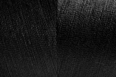 Black rolled yarn texture background Stock Photo