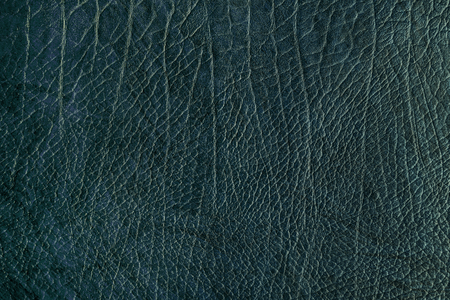 Blue creased leather textured background Banco de Imagens