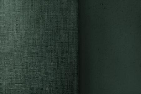 Green matt weave fabric textured background Reklamní fotografie
