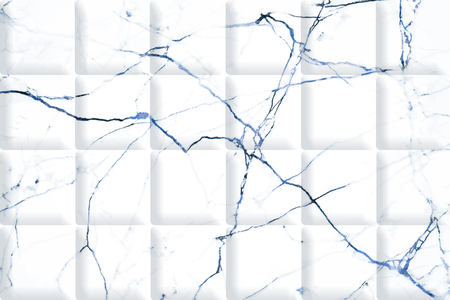 White marble with blue texture background