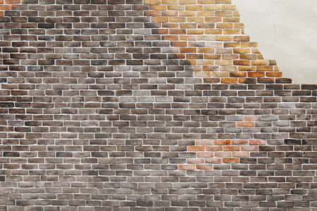 Brown brick wall textured background Stock fotó