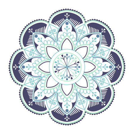 Colorful mandala pattern on white background