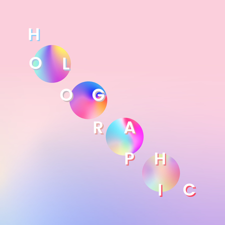Colorful holographic gradient trend vector