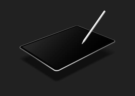 Digital modern tablet screen mockup