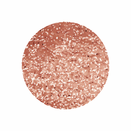 Round pink glittery badge vector 向量圖像
