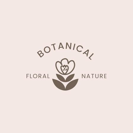Botanical floral rose badge vector Vettoriali