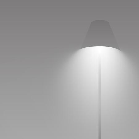 Gray lamp glowing and shining vector