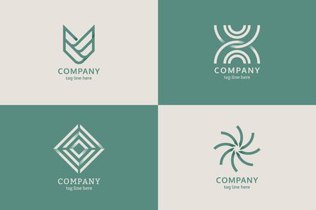 Modern company logo design vector  イラスト・ベクター素材
