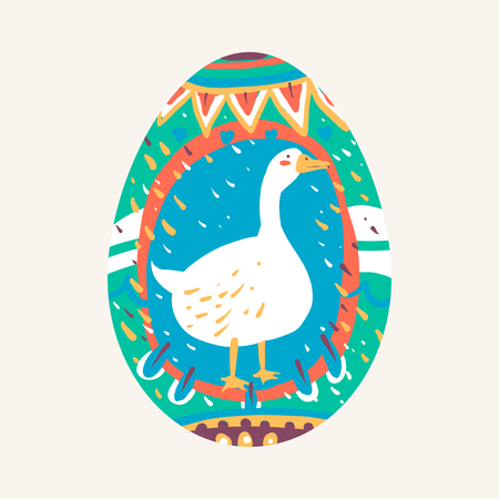 Easter festival painted egg vector Foto de archivo - 118544272