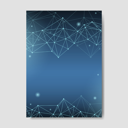 Blue neural texture abstract vector