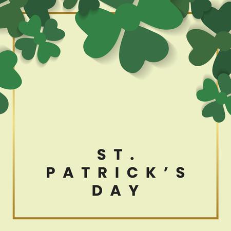 St.Patrick's Day square frame vector