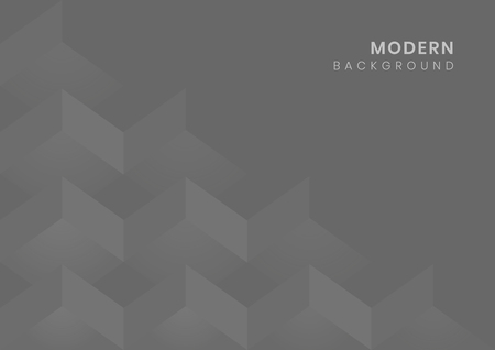 Gray modern background design vector