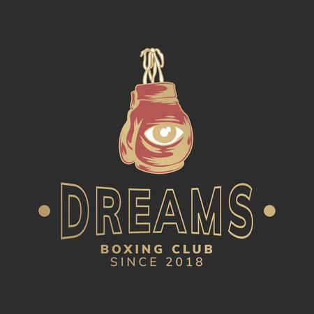 Dreams boxing club logo vector Banque d'images - 118544283