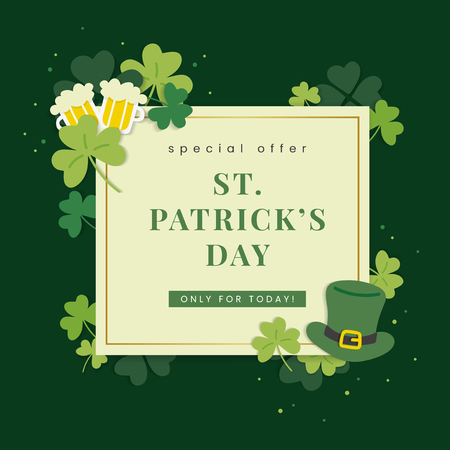 St.Patrick's Day special offer vector Illustration
