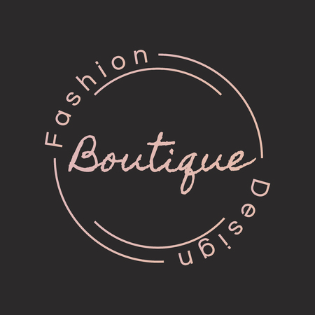Boutique fashion design logo badge design Illusztráció
