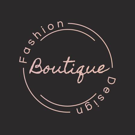 Boutique fashion design logo badge design Illustration