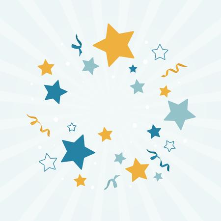 Festive stars background design vector Vector Illustration