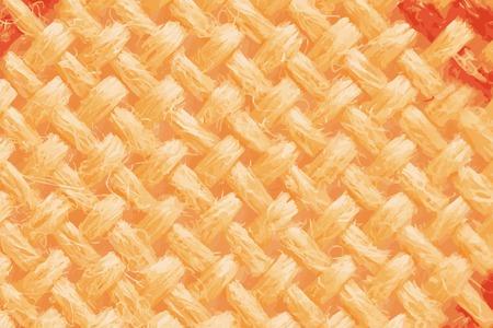 Orangefarbener, strukturierter Vektorhintergrund aus Wolle