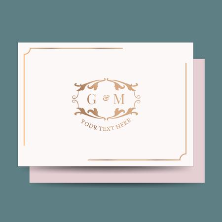 Conception d'invitation de mariage baroque vintage Vecteurs