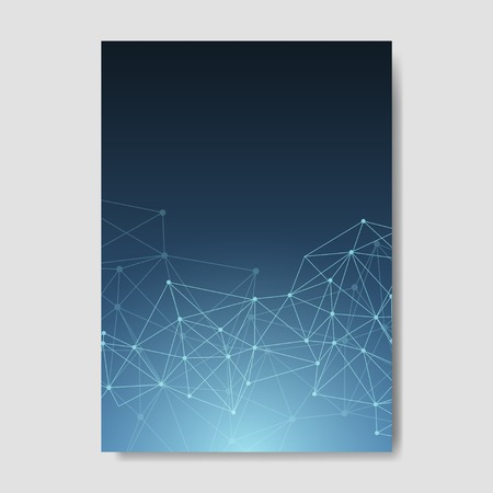 Blue neural texture abstract vector