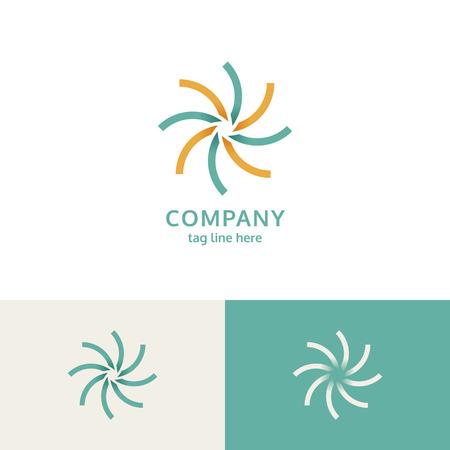 Modern company logo design vector Illusztráció