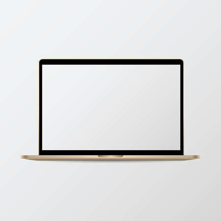 Digital modern notebook screen mockup