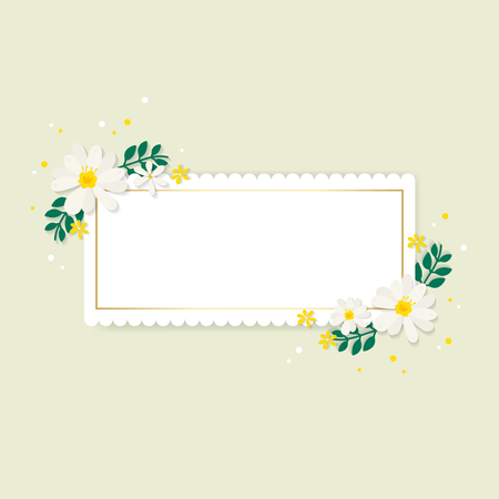 Spring floral frame design vector Illustration